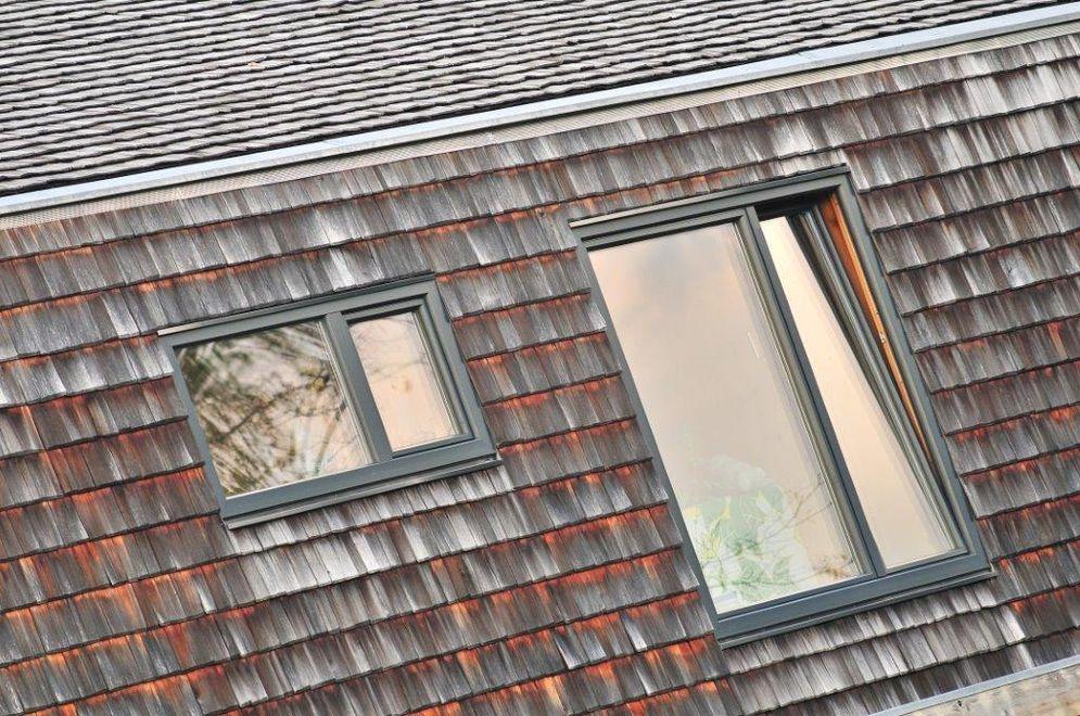 Außenansicht Obergeschoss © Brunthaler Massivholzhaus