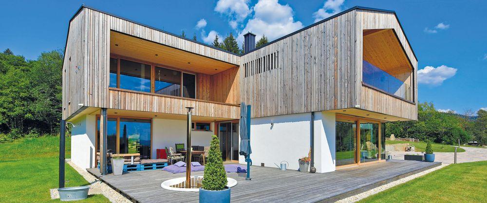 Moderne Hauser Brunthaler Massivholzhaus
