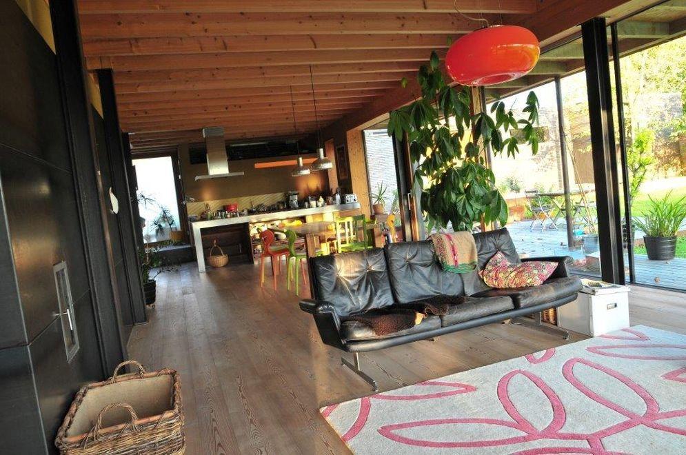 Innenansicht Wohnzimmer © Brunthaler Massivholzhaus