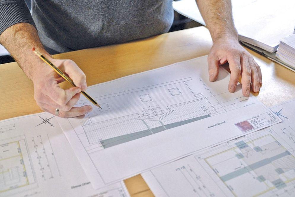 Plan Entwurf Haus am Kopf