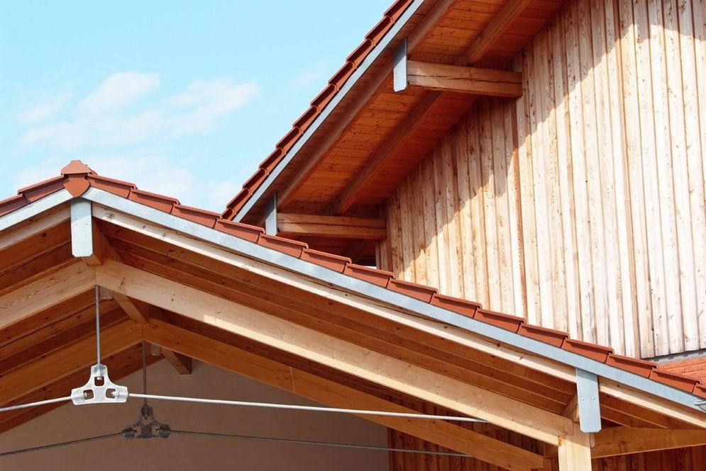 Dach des Carports © Brunthaler Massivholzhaus
