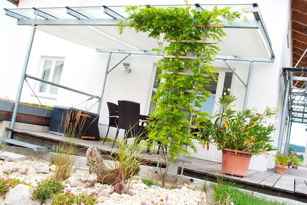 Holzterasse © Brunthaler Massivholzhaus
