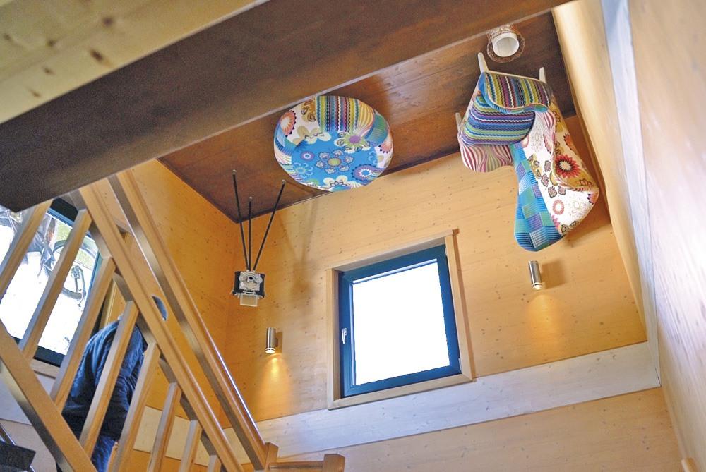 Detailansicht des Wohnzimmers an der Decke