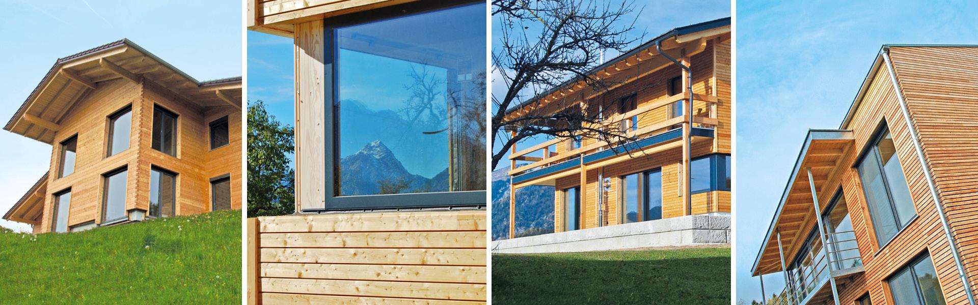 Baustellenfotos von Brunthaler Massivholzhäusern