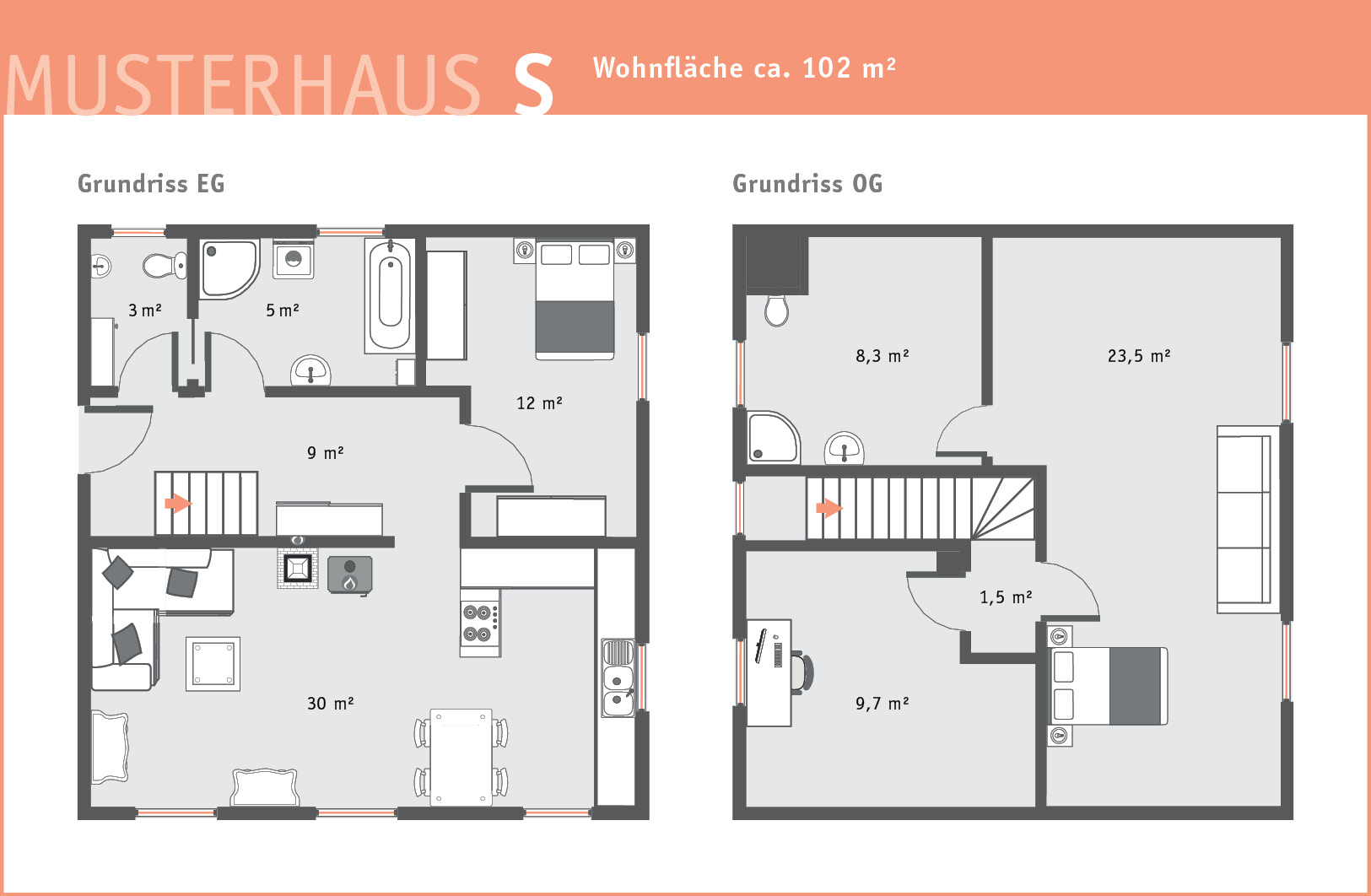 Brunthaler Holzhaus Musterhaus S Bauplan